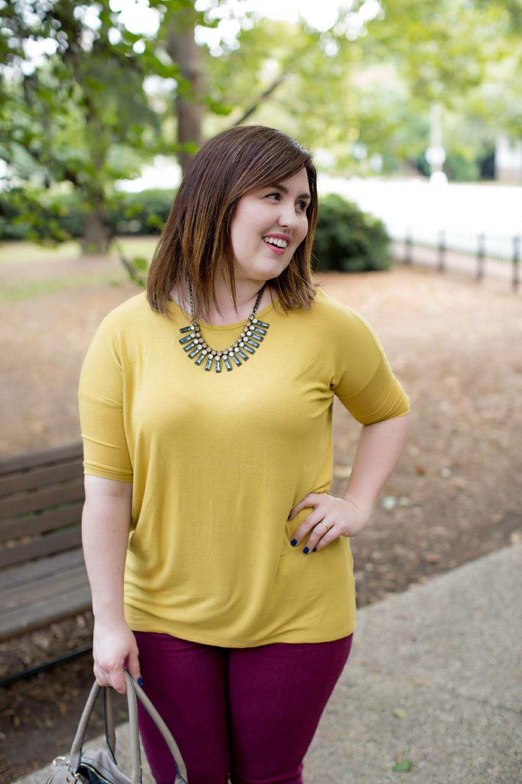 Rebecca Lately Lularoe Mustard Irma Pistola Jeans Stitch Fix Rockport Flats Urban Expressions Grey Bag