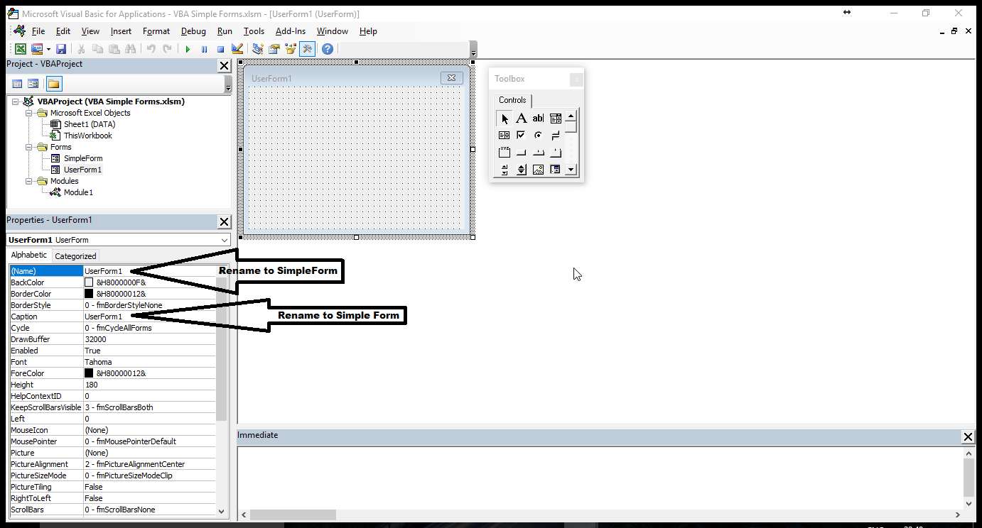 Excel E-Learning: Excel VBA: How to Create a User Form