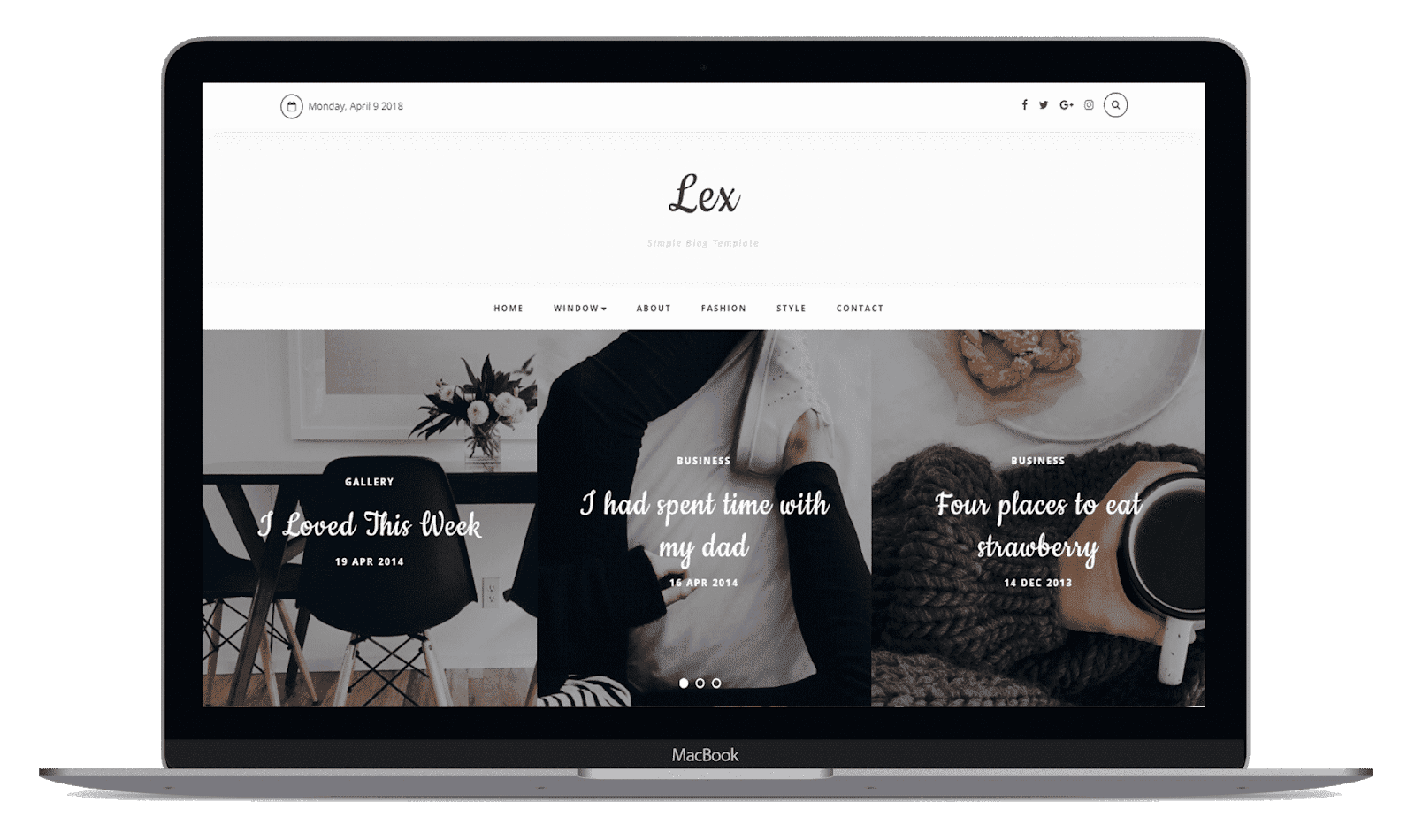 Lex blogger template free download