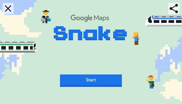 Snake no Google Maps