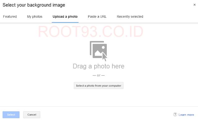 memilih untuk upload photo pribadi