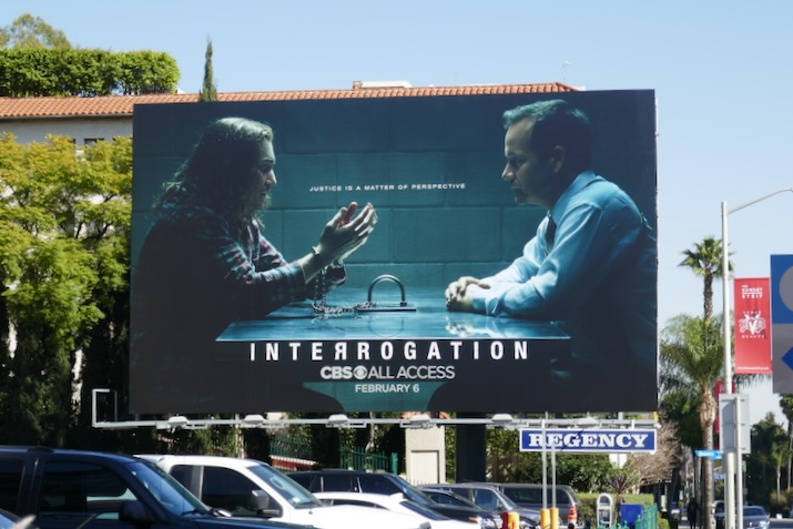 Interrogation series launch billboard