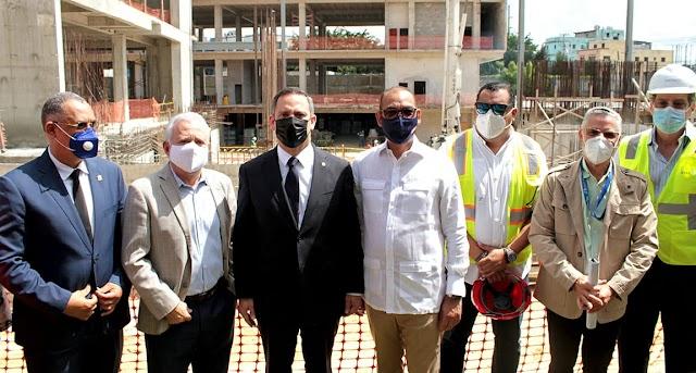MOPC y Poder Judicial supervisan los trabajos de construcción del nuevo Palacio de Justicia de SDE