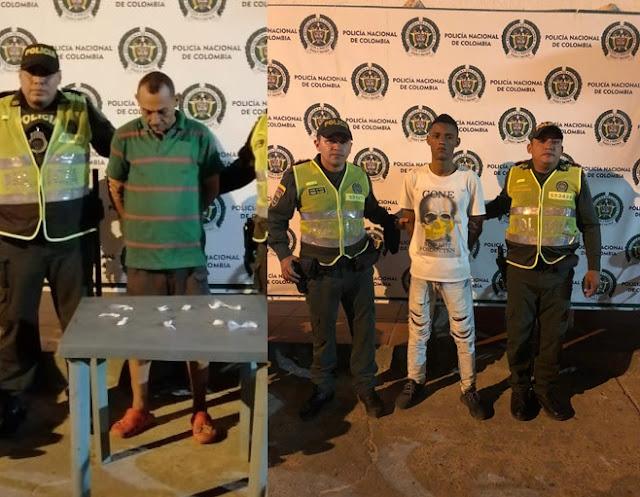 En Maicao: Uno capturado por vender coca y el otro andaba en la calle teniendo casa por cárcel