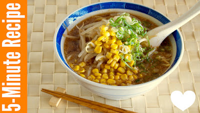 5 MIN Vegan Miso Ramen from Scratch