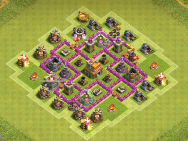Base Town Hall 6 Clash of Clans Trophy
