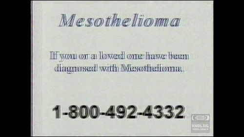entire mesothelioma commercial script