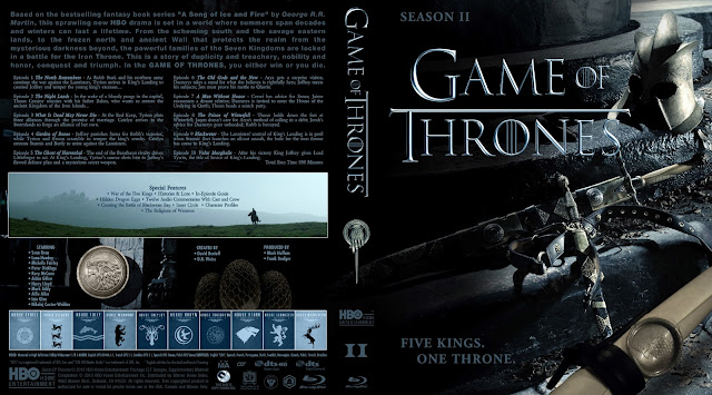 Game Of Thrones Season 2 Bluray Cover
