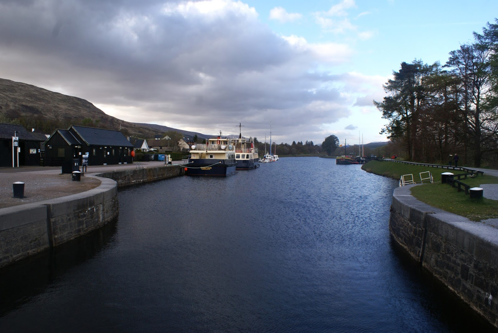 caledonian canal corpach fort william scotland uk