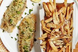Crispy Lemon Baked Fish with Parmesan Fries