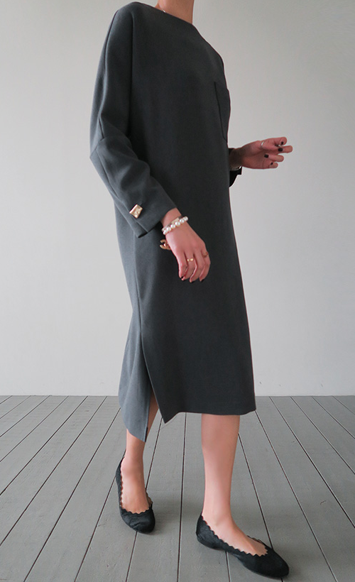 Asymmetrical Hem Shift Dress