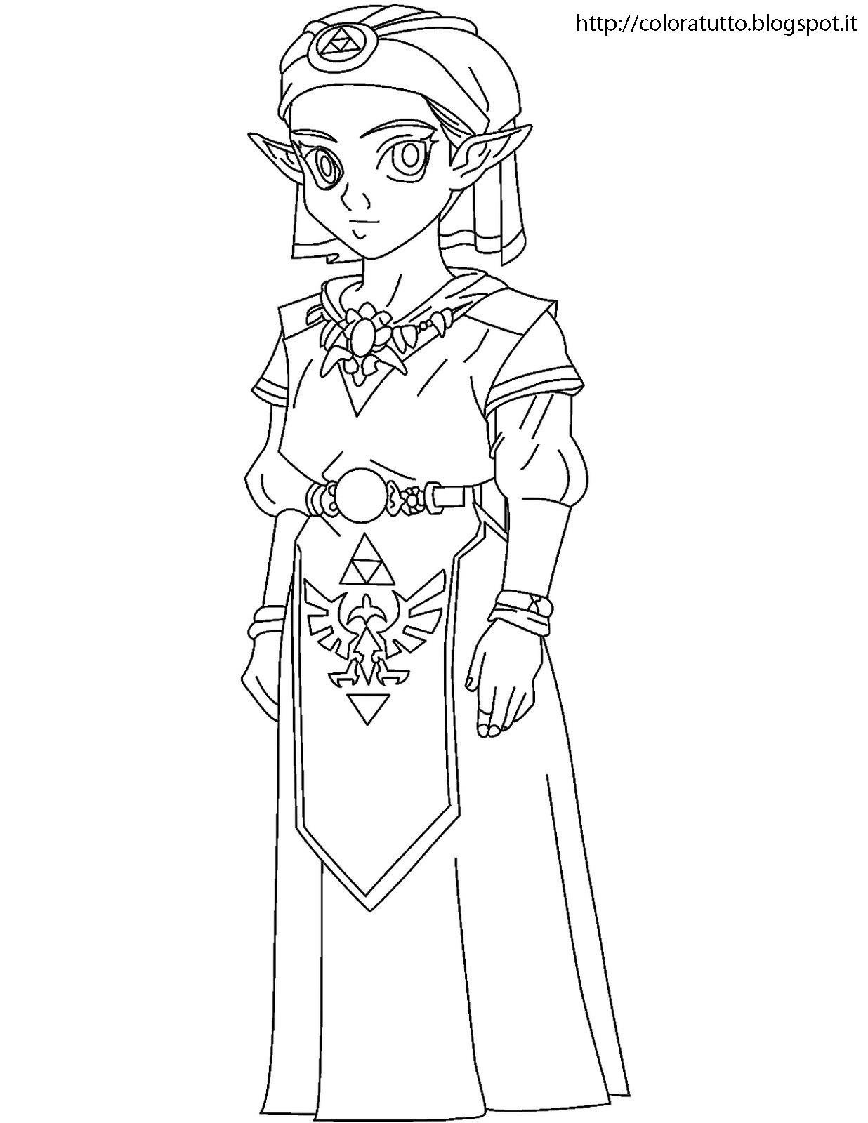 Zelda Disegno Da Colorare N3
