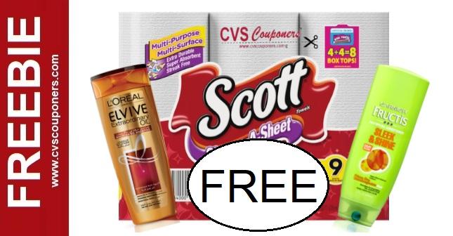 FREE Scott Paper Towel CVS Cash Card Deal 4/5-4/11
