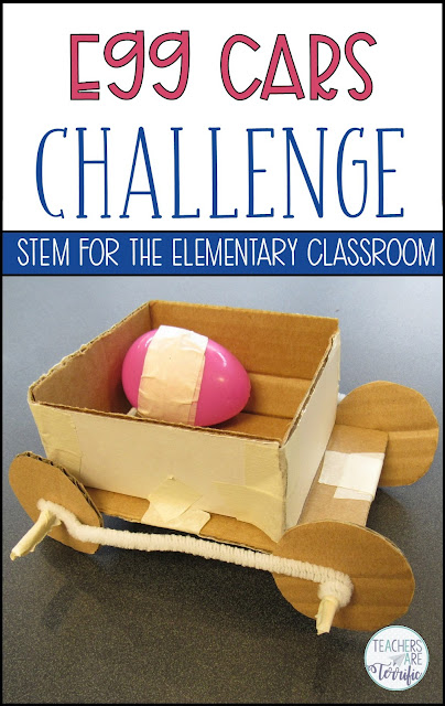 It's another fabulous STEM challenge using Newton's Laws of Motion! Students will love this egg car challenge and the experimenting with their egg cars and ramps! #teachersareterrific #STEM #elementary