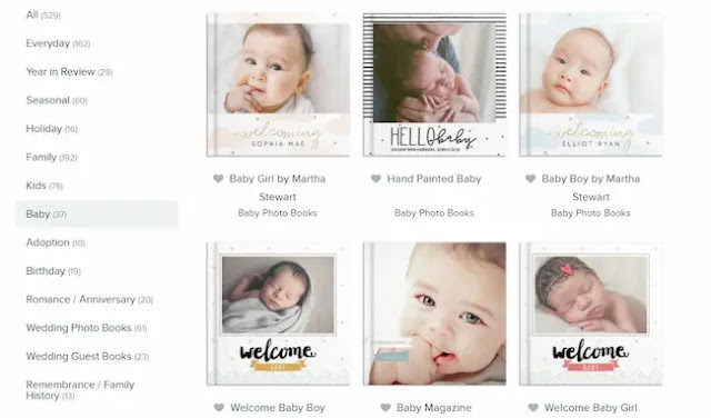 Personalized baby memory book with Mixbook