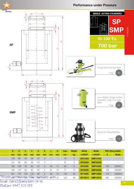 Kích Lùn Larzep SP - SMP 109 KN - 911 KN