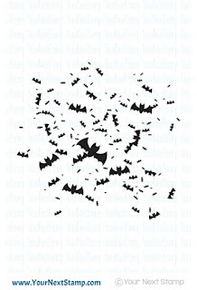 Batty Background Ink Splatter