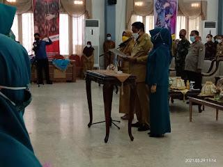 Bupati Hadiri Pelantikan Pengurus Tim PKK Maros di Gedung Serbaguna