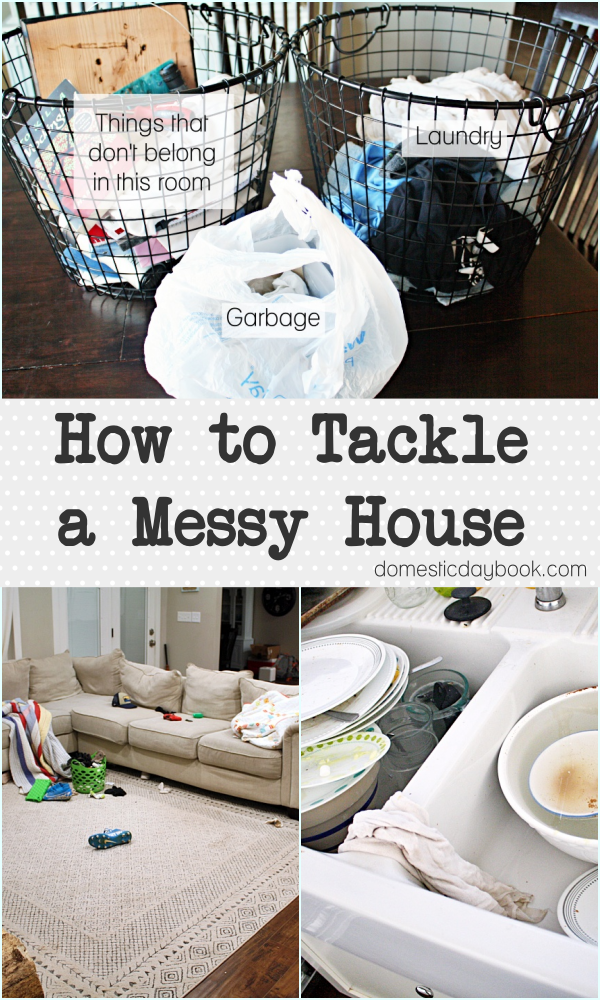 How to tackle a messy house using the basket method