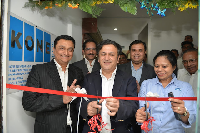 Mr. Amit Gossain, MD KONE India inaugurating Bigger Office in Nagpur today