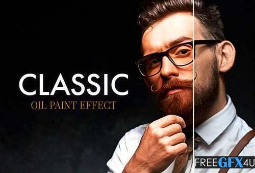 Oil Paint Effect PSD Mockup