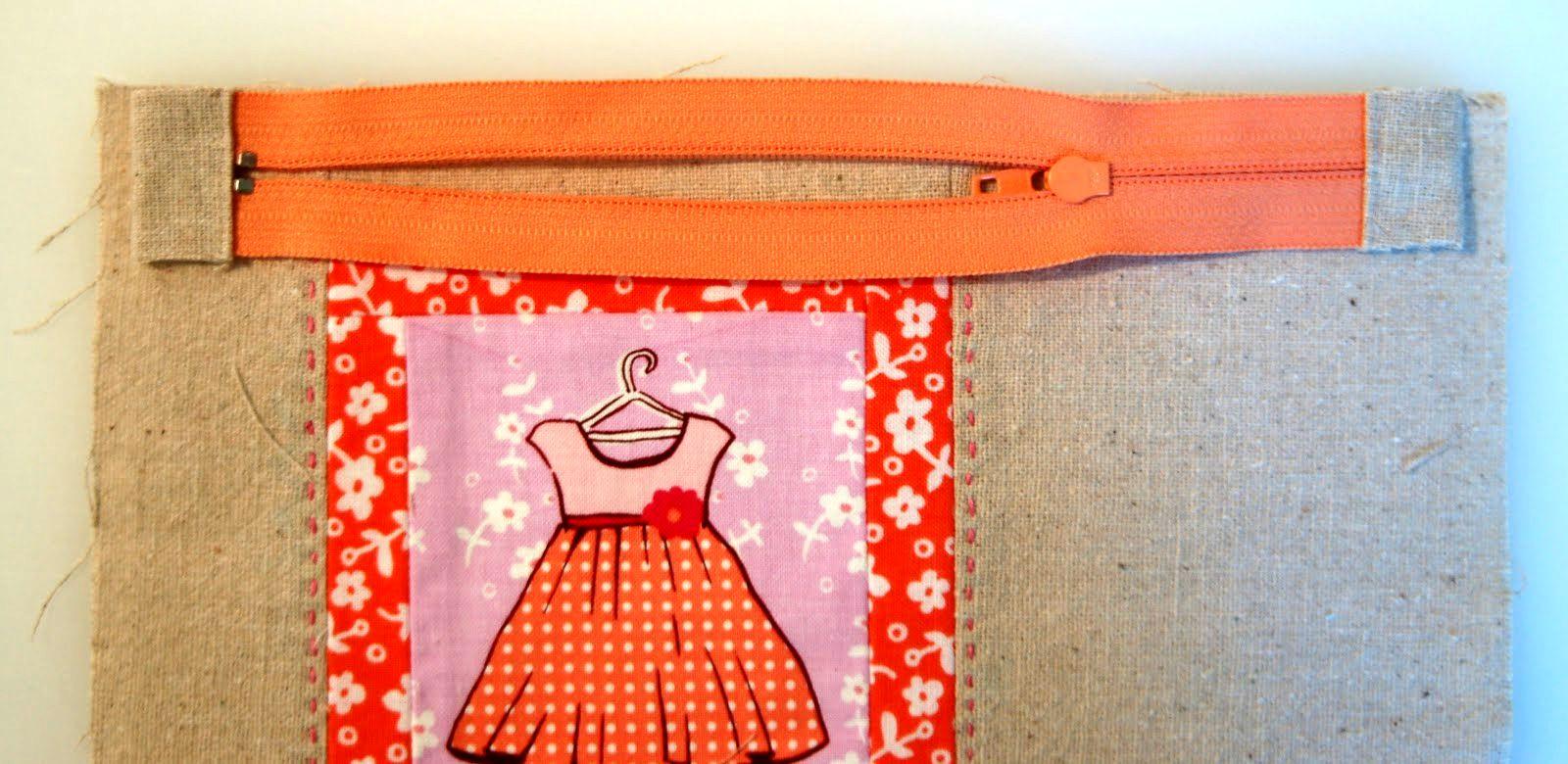 Fussy Cut Zipper Pouch Tutorial + Pattern
