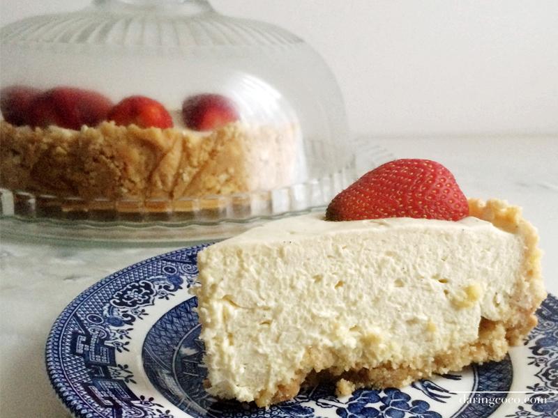 classic vanilla cheesecake