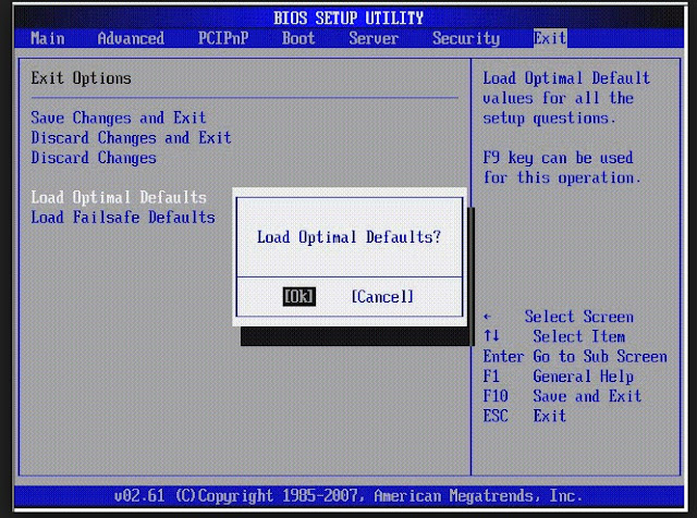 Procedure For Resetting Your Windows Computer's BIOS Settings To Default Values