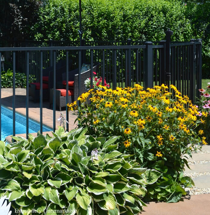 Cottage Style Garden With Pool
