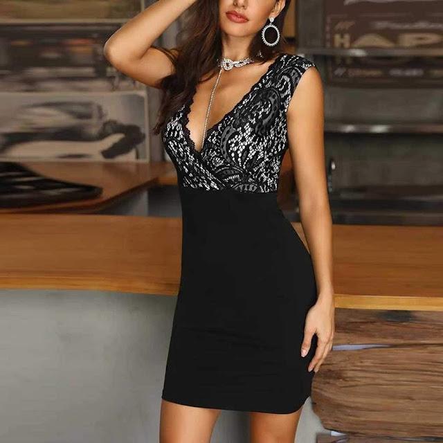 Deep V neck Dress for Women