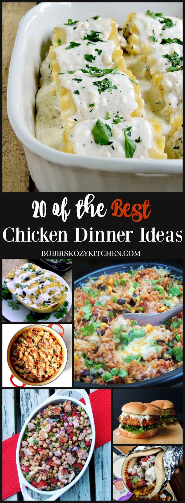Winner winner 20 of the BEST chicken dinner recipes from www.bobbiskozykitchen.com