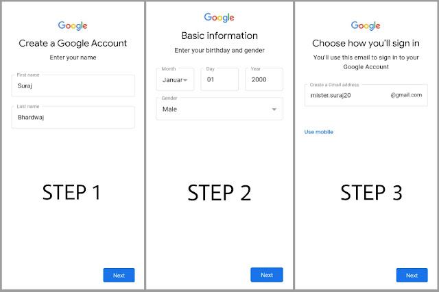 gmail id kaise banaye in hindi
