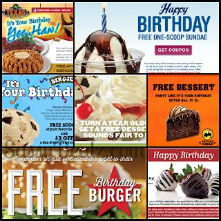 birthday coupons restaurants