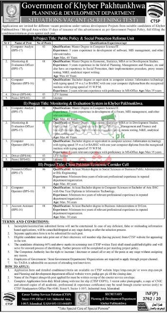 planning-development-department-kpk-jobs-2020-latest-advertisement