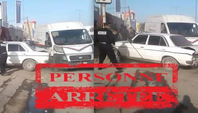 """عاجل وبالصورة...""""خطاف"""" يصدم سيارة الأمن الوطني ويعرض المواطنين لخطر وشيك بمنطقة ليساسفة + فيديو قراو التفاصيل⇓⇓⇓"""