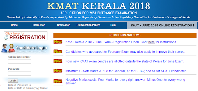 KMAT Kerala Management Aptitude Test 2018