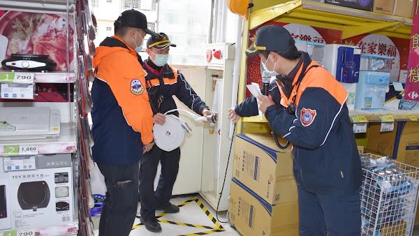 確保安全購物環境 彰化縣消防局加強大賣場安檢及演練