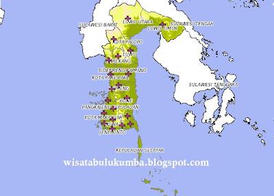 Peta Wisata Sulawesi Selatan sumber Google Mpas