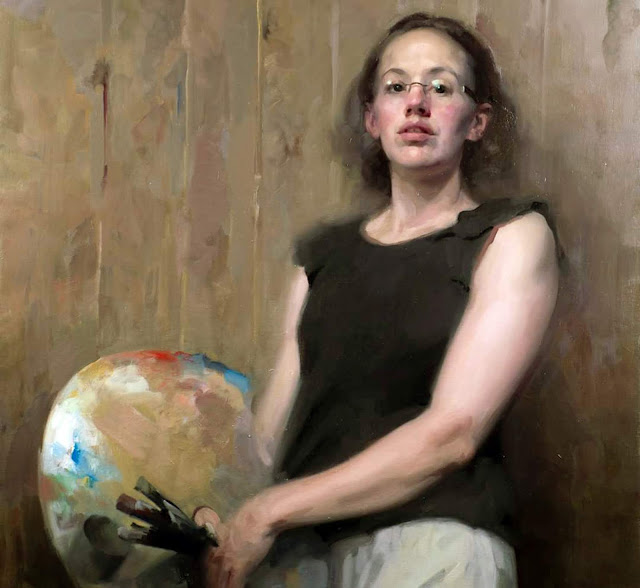 Frances Bell, Self Portrait, Portraits of Painters, Fine arts, Portraits of painters blog, Paintings of Frances Bell, Painter Frances Bell