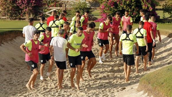 Málaga, hoy entrenamiento a las 9:15