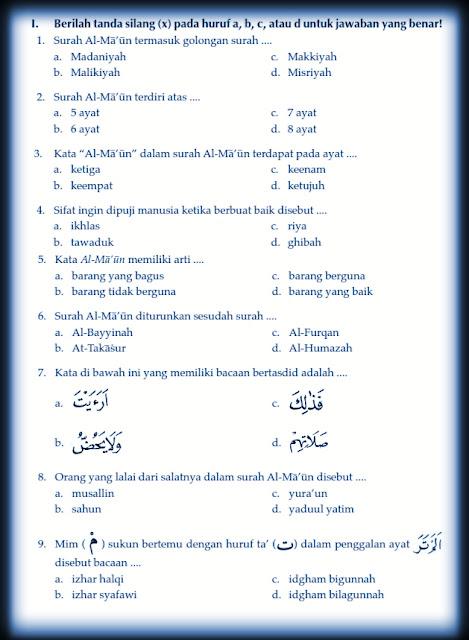 Download Kumpulan Soal Uts Genap Pendidikan Agama Islam Kelas 5 Semester 2 Rief Awa Blog