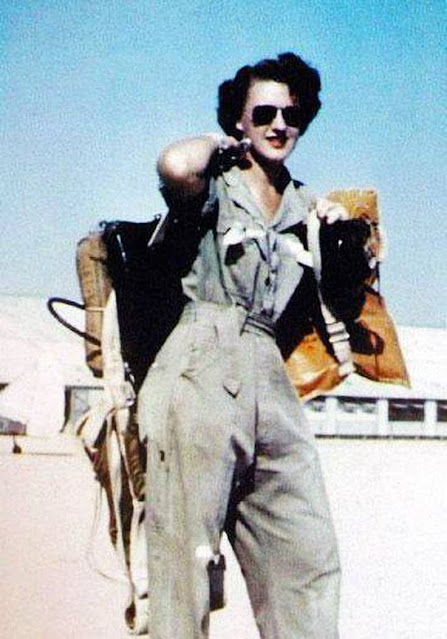 Lillian Yonally, WASP ferry pilot, women color photos worldwartwo.filminspector.com