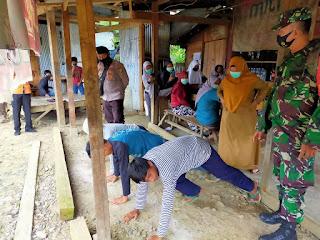 Gabungan Operasi Masker di Rampunan, Para Pelanggar Kena Hukuman Push Up