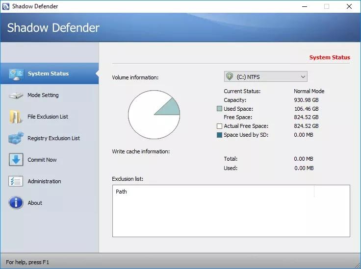 تحميل برنامج Shadow Defender 1.5.0.726 لحماية حاسوبك من الأنشطة والتغييرات غير المرغوب فيها