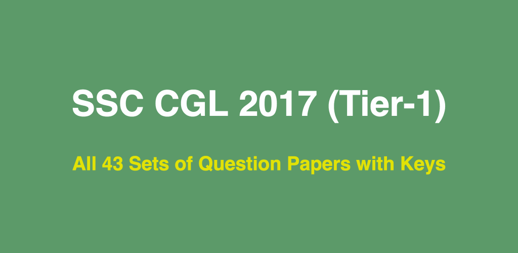Ssc Cgl Last 10 Years Question Papers Pdf