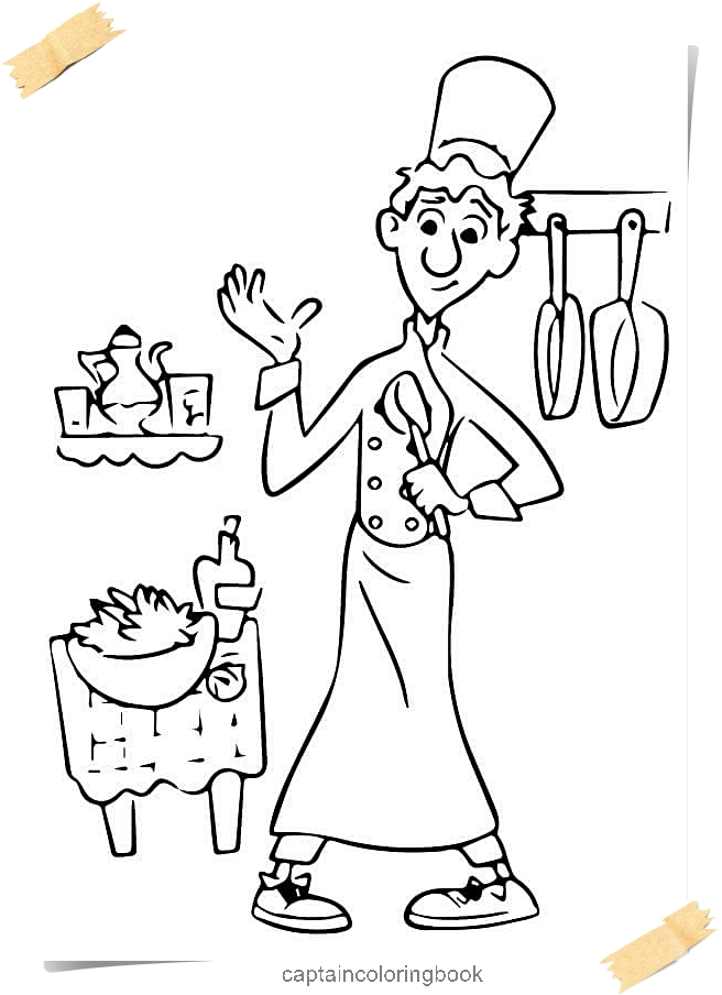 linguini disney ratatouille coloring pages linguini disney ratatouille - Ratatouille Coloring Pages