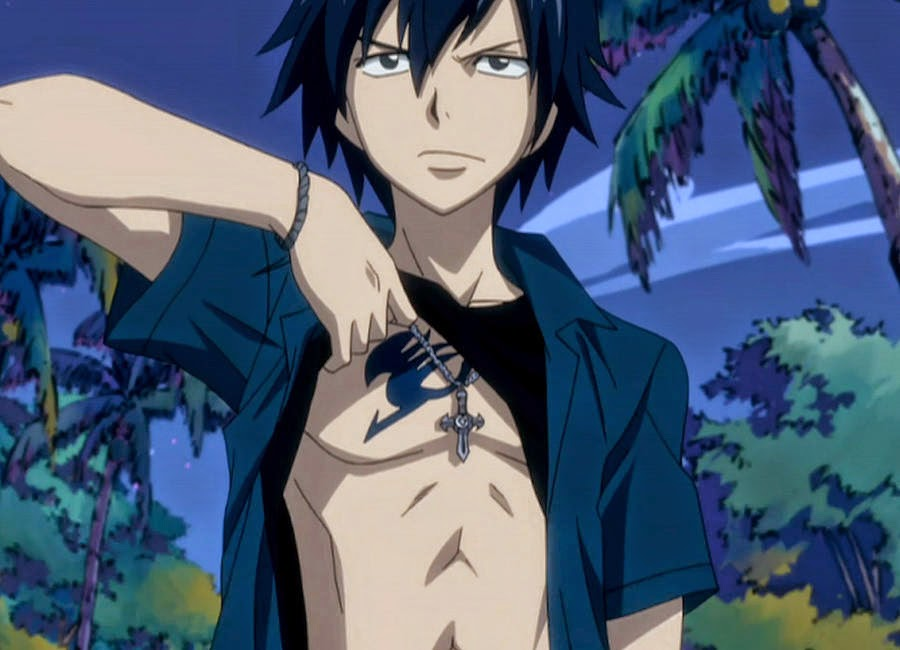 Gray Fullbuster, Fairy tail, hottest anime guys, shirtless