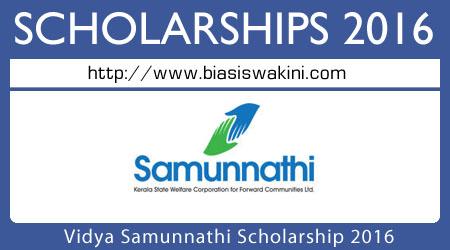 Vidya Samunnathi Scholarship 2016