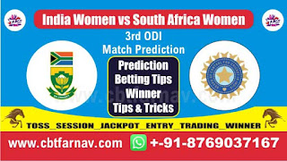 RSAW vs INDW 3rd ODI Today Match Prediction Tips