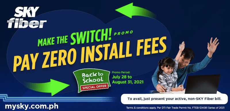 Deal: Sky Fiber offers FREE installation fees until August 2021!